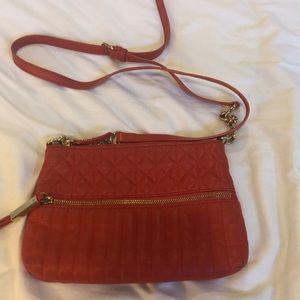 B Makowsky redish orange shoulder bag